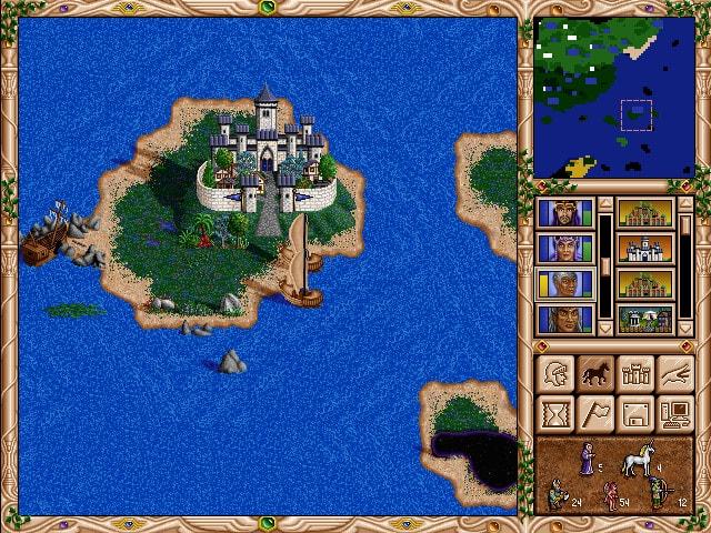 остров с замком Чародеев