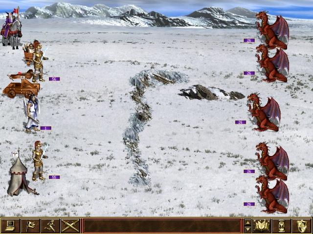 бой с красными драконами