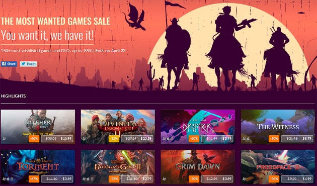Most Wanted Sale от GOG