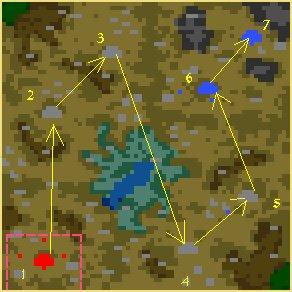 Карта Битва за трон