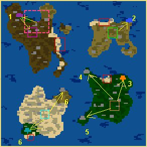 Карта Пиратские перипетии