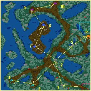 Карта Таталия в огне
