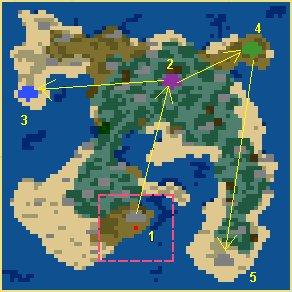 Карта Затерянный в океане